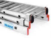 Odlewane prowadnice - z dodatkowymi kładkami ślizgowymi dzięki którym łatwo rozkładasz drabinę.