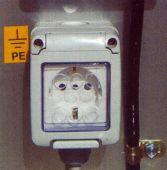 PC01 Gniazdko prądowe 220V, 6A w koszu z zabezpieczeniem różnicowo-prądowym.