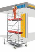 Rusztowanie Stabilo zapewniające wygodną prace do maksymalnej wysokości roboczej 14.40 m