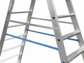 Dwa dodatkowe zabezpieczenia zapewniają stabilność obu części drabiny w trakcie użytkowania.