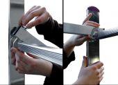 Montaż elementów podestu odbywa się bez użycia narzędzi.