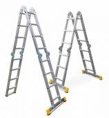 Duża funkcjonalność drabin czteroelementowych pozwala na dostosowanie jej do konkretnych warunków pracy.